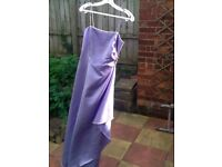 Beautiful lilac bridesmaid/prom dress, size 10, used but still in a good condition