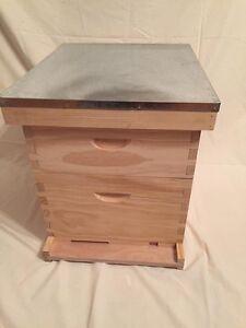 Ruche et cadres avec la cire a vendre / beehive with frames