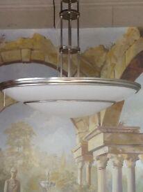 Chelsom semi flush light fittings with matt steel trim