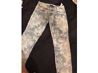 Size 6 floral print jeans