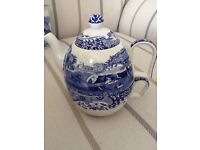 Teapot and cup for one. Spode Blue Italian