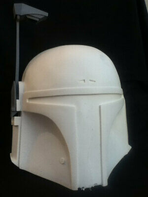 Star Wars Boba Fett Helmet Replica Prop Raw ( with formed lens)
