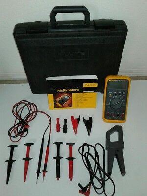 Fluke 87iii Multimeter Combo Kit Excellent Conditionhard Case W Clamp 600v.