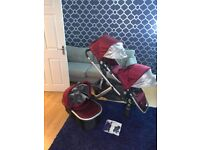 Uppa baby vista double pram pushchair