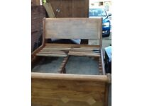 Solid wood bed first come first served