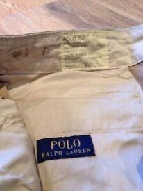 Begie Polo Ralph Lauren Combat Trousers size 34