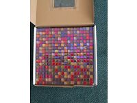 Glass Red Mix Mosaic Tiles 15cm x 15cm