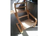 Ikea 'Poang' Chair - Birch-Effect - NO CUSHION