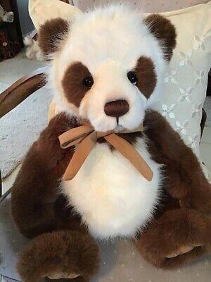 KARL CHARLIE BEARS 2018 PLUSH PANDA * 17.5