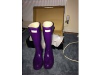 Purple gloss Hunter wellies