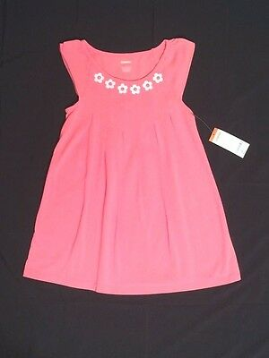 NWT Gymboree Girls Size 5 Everyday Favorites Coral Pink Daisy Dress Tunic Spring