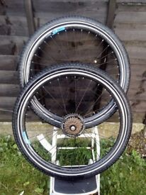 bike rims and tyre