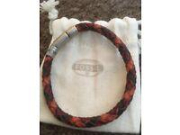 Fossil Mans leather twist bracelet