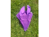 Purple tie down ear bonnet (Cob size)