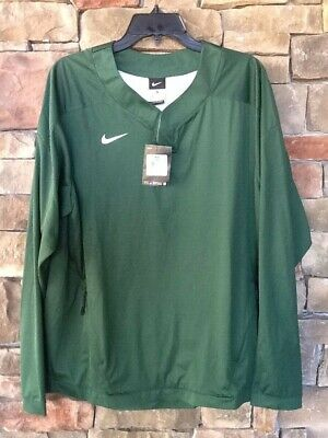 NIKE Pullover Windbreaker Green Mens Size M Jacket Cooling Mesh Arm NEW Tag $90 Baseball Mesh Vest