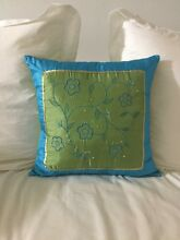 Cushion (green, blue and gold) Meadowbank Ryde Area Preview