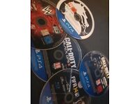 5 PS4 Games [do not come in a box]