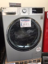 EX-DISPLAY 9 KG 1400 SPIN A+++ SILVER WASHING MACHINE REF: 31555