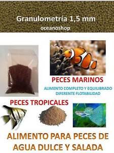 comida granulo 1 5mm peces tropicales y acuario marino