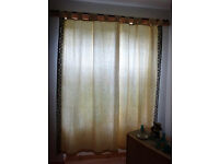 Curtain, 225cm x 215cm, blue and beige