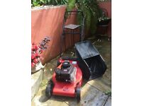 Second hand Alko 46 BR Classic lawnmower. Some cosmetic damage to the one side