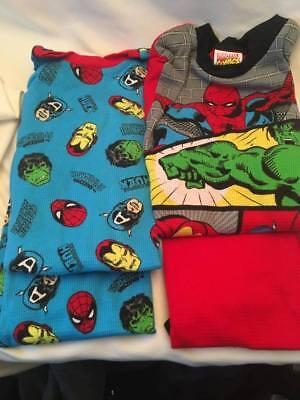 Marvel Super Hero's 4 Pc Tight Fit Pajama Set Sizes 8 New Hulk Spider Iron Man