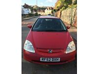 Honda civic 1.6 sport 2002 with mot until september 2017 and a full service history