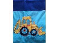 Next Digger Truck Boys Curtains. Fully lined.