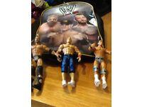 Wrestler backpack and wrestlers