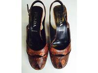Prada brown snakeskin platform heels – UK size 6 (European size 39)
