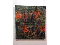 target, 2000,2015 , oil ,acrylic,collage, 100cm x 90cm