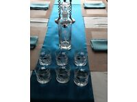 Gleneagles Crystal glass decanter and tumblers