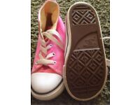 Junior size 8 pink Converse hi-tops