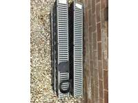 6 x 1m Drainage Channels with coupling and end cap