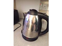 Stainless steel electric kettle silver and black