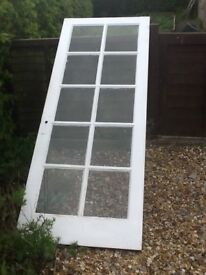 Glass door in good condition just removed from house