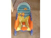 Colourful baby chair, ideal for baby's between 3-10 months