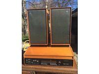 Retro teak sound system