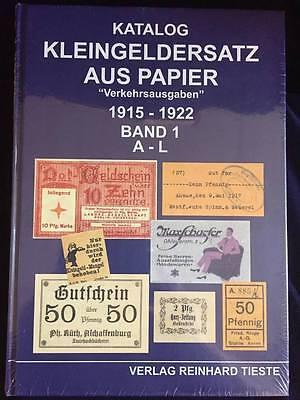 """Kleingeldersatz aus Papier """"Verkehrsausgaben"""" 1915-1922 Band 1 und 2, Tieste"""