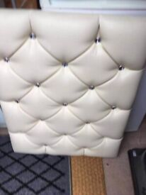 Superior Single Headboard with Diamante Buttons
