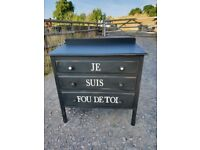 solid oak french style chest of drawers ( i'm crazy for you )