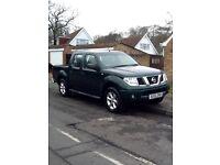 Nissan Navara DCI SE Double cab 2005. Long MOT. 4 Wheel drive. NO VAT
