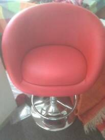 2 Red Stools