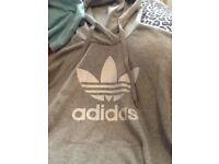 genuine grey Adidas hoodie