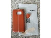 Brand new, leather Samsung S6 Edge phone cover - In original packaging
