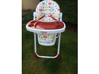 Mamia highchair for sale in excellent condition used at nana and papas house variable seat height