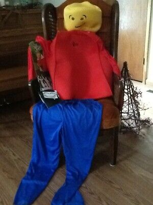 Lego Man Blockhead adult costume new free shipping - Lego Man Costume