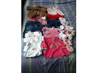 Selection of baby clothes 0-3 months 3-6 months and 1 dress 9-12 months
