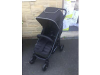 IMMACULATE EXDISPLAY HAUCK RAPID 4 PRAM PUSHCHAIR BUGGY STROLLER RED BLACK FROM BIRTH ONLY £50