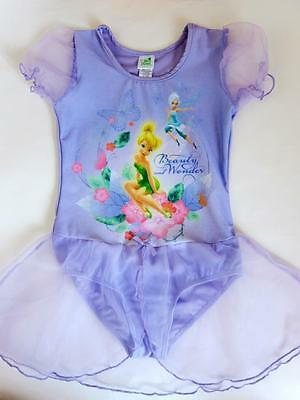 Tinkerbell Leotard ( New Girls Disney TinkerBell Tutu Tulle Leotard Ballet Dance Dress Purple 5T-6T)